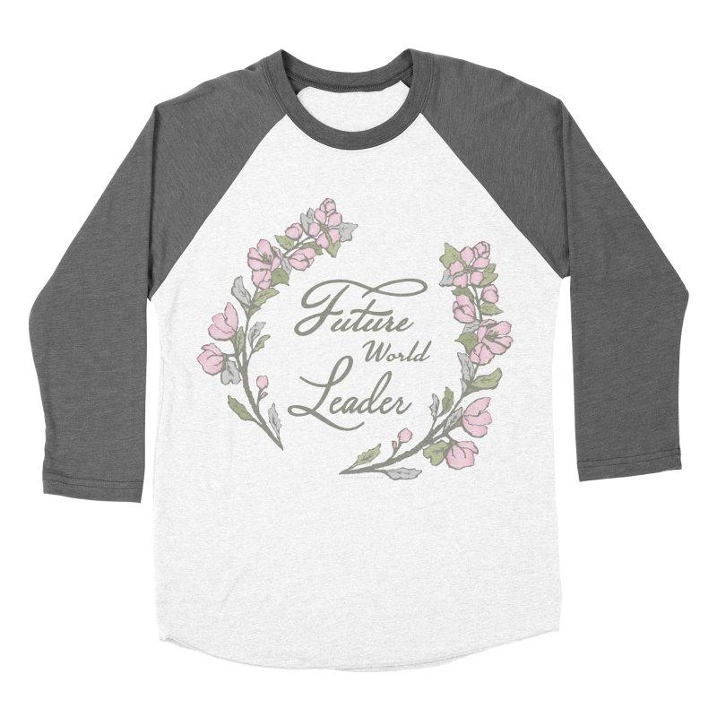 Future World Leader (Color) Men's Baseball Triblend Longsleeve T-Shirt by cityscapecreative's Artist Shop