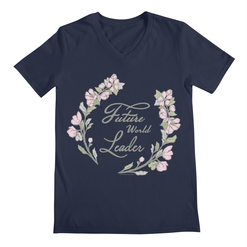 Future World Leader (Color) Men's Regular V-Neck by cityscapecreative's Artist Shop