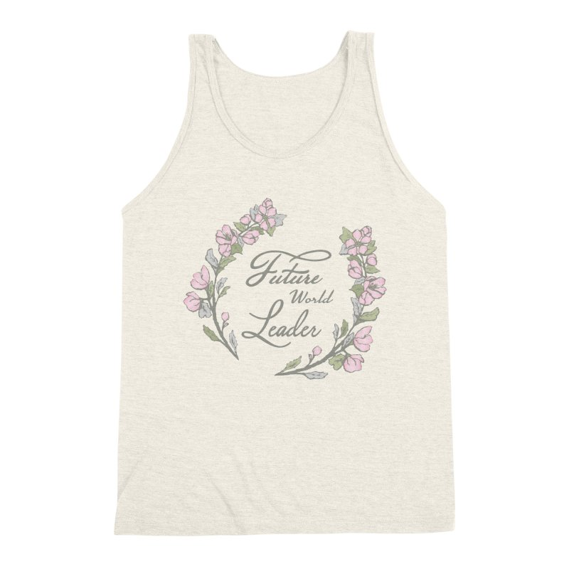 Future World Leader (Color) Men's Triblend Tank by cityscapecreative's Artist Shop