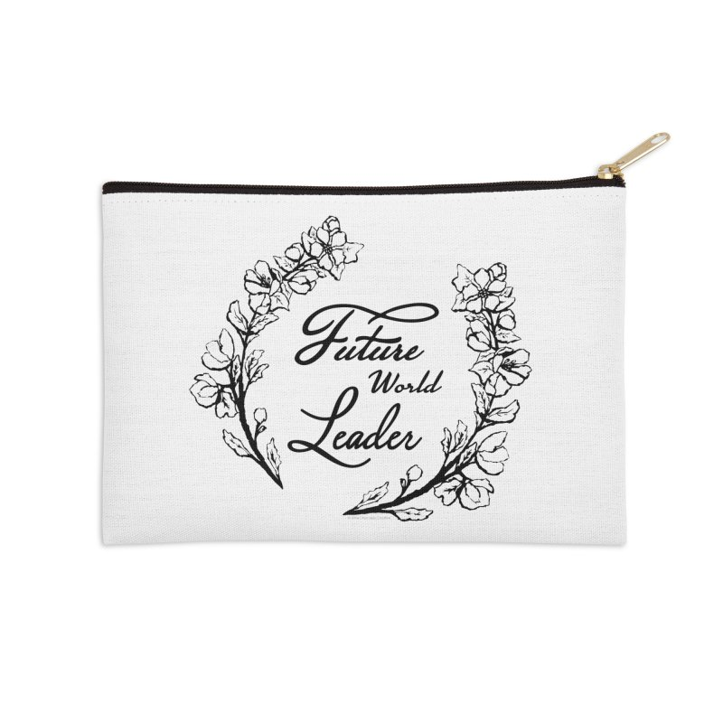 Future World Leader (Black Type) in Zip Pouch by cityscapecreative's Artist Shop
