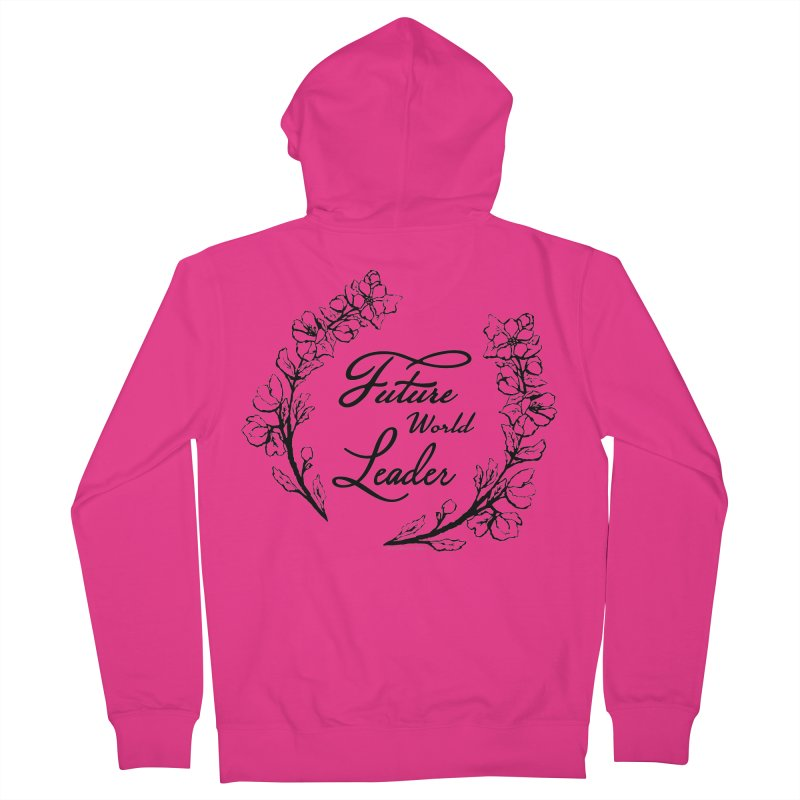 Future World Leader (Black Type) Men's French Terry Zip-Up Hoody by cityscapecreative's Artist Shop