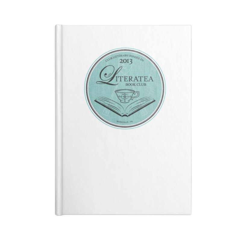 The Literatea Book Club Accessories Lined Journal Notebook by cityscapecreative's Artist Shop