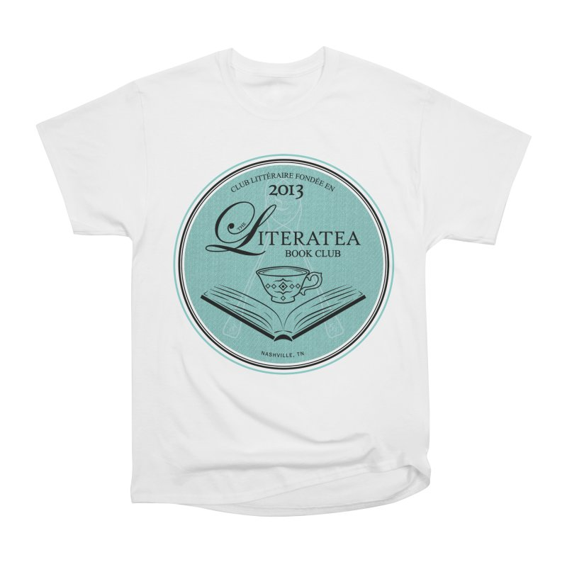 The Literatea Book Club Men's Heavyweight T-Shirt by cityscapecreative's Artist Shop