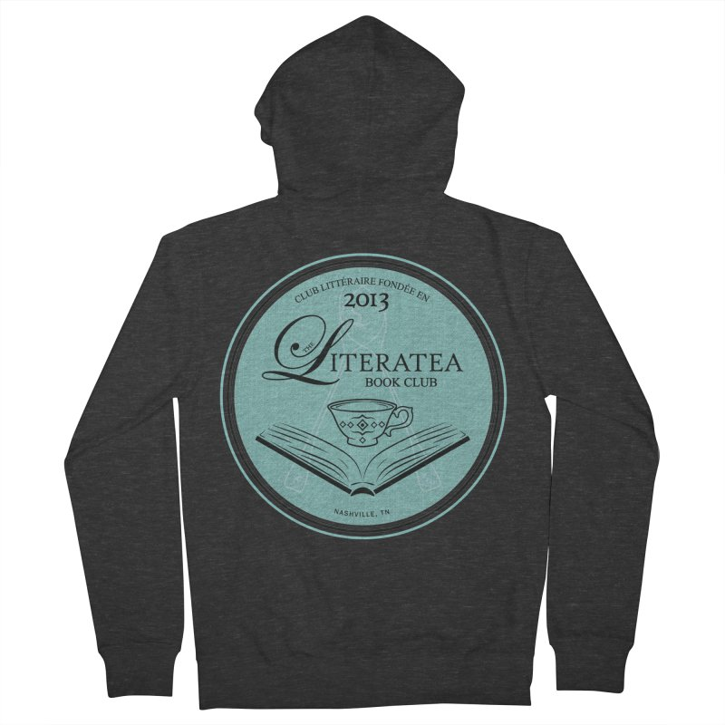 The Literatea Book Club Women's French Terry Zip-Up Hoody by cityscapecreative's Artist Shop