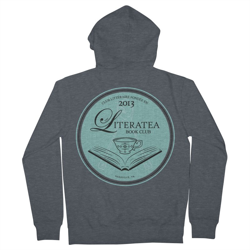 The Literatea Book Club Men's French Terry Zip-Up Hoody by cityscapecreative's Artist Shop