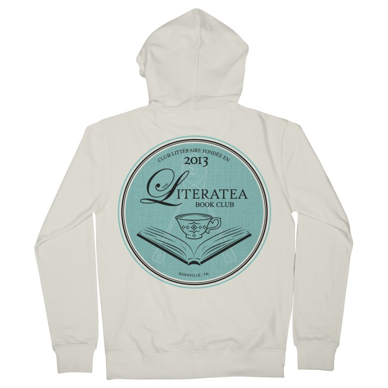 The Literatea Book Club Men's Zip-Up Hoody by cityscapecreative's Artist Shop