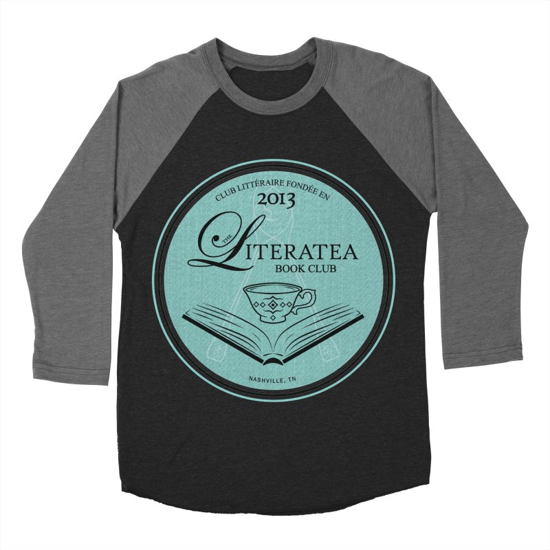 The Literatea Book Club Women's Baseball Triblend Longsleeve T-Shirt by cityscapecreative's Artist Shop