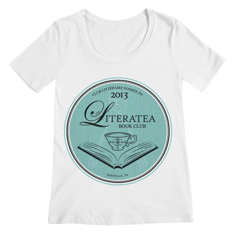 The Literatea Book Club Women's Regular Scoop Neck by cityscapecreative's Artist Shop