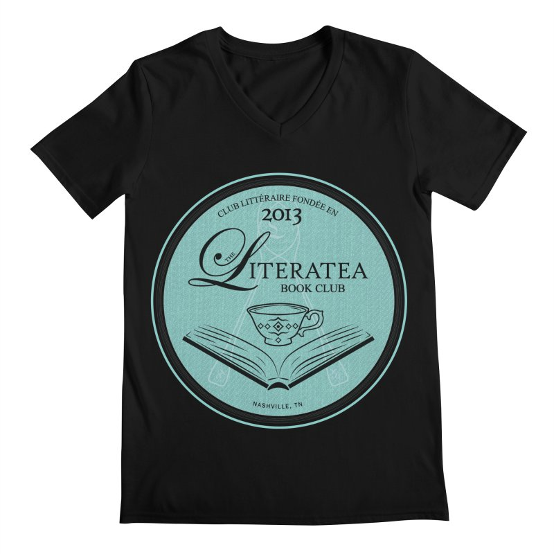 The Literatea Book Club Men's Regular V-Neck by cityscapecreative's Artist Shop