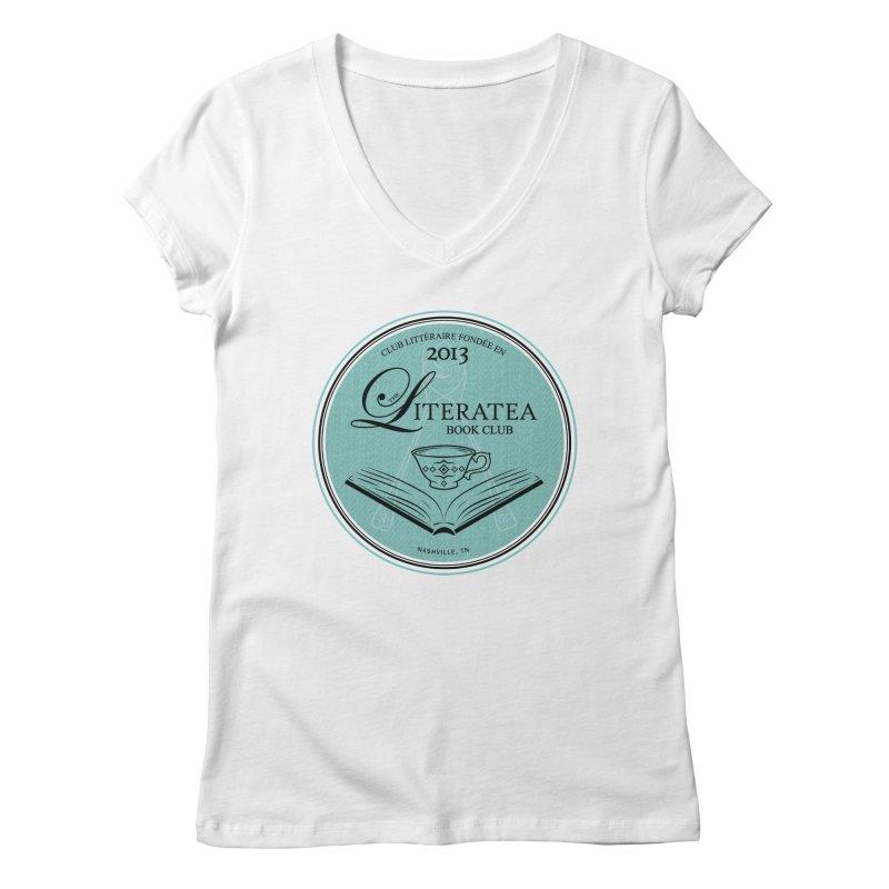 The Literatea Book Club Women's V-Neck by cityscapecreative's Artist Shop