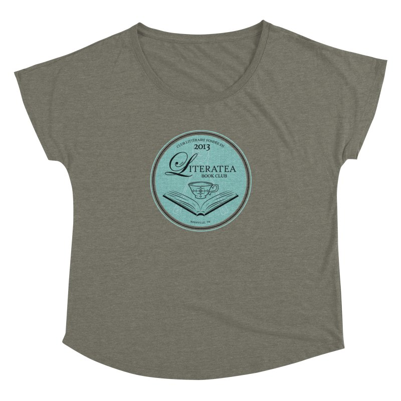 The Literatea Book Club Women's Scoop Neck by cityscapecreative's Artist Shop
