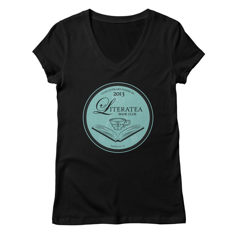 The Literatea Book Club Women's Regular V-Neck by cityscapecreative's Artist Shop