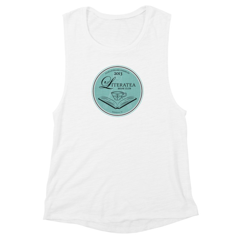The Literatea Book Club Women's Muscle Tank by cityscapecreative's Artist Shop
