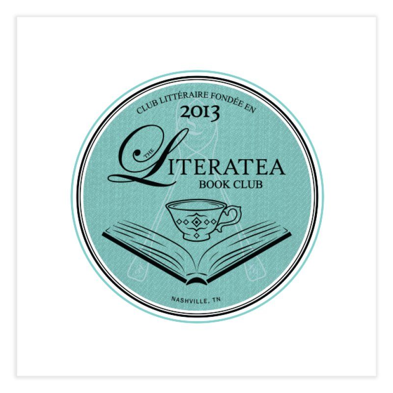 The Literatea Book Club Home Fine Art Print by cityscapecreative's Artist Shop