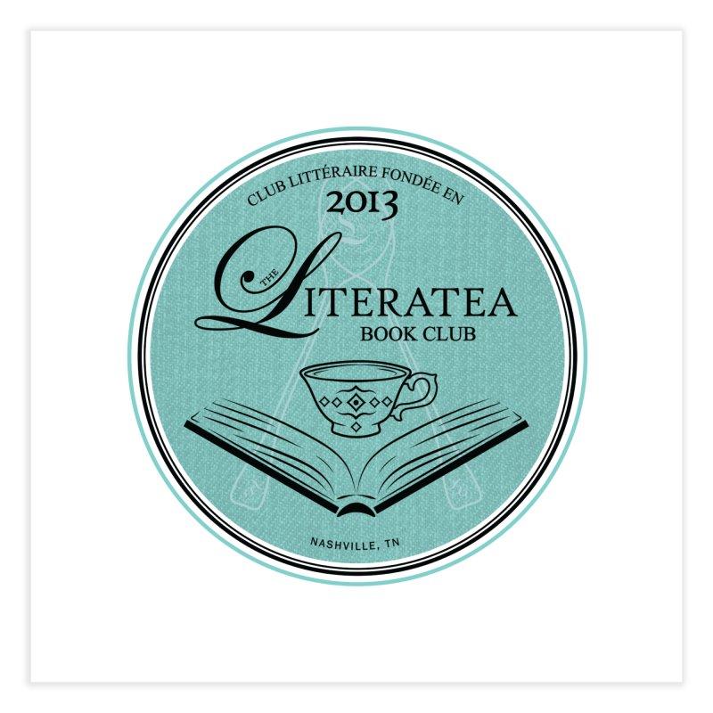 The Literatea Book Club Home Fine Art Print by cityscapecreative's Artist Shop