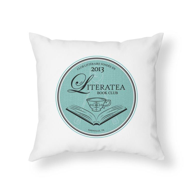 The Literatea Book Club Home Throw Pillow by cityscapecreative's Artist Shop