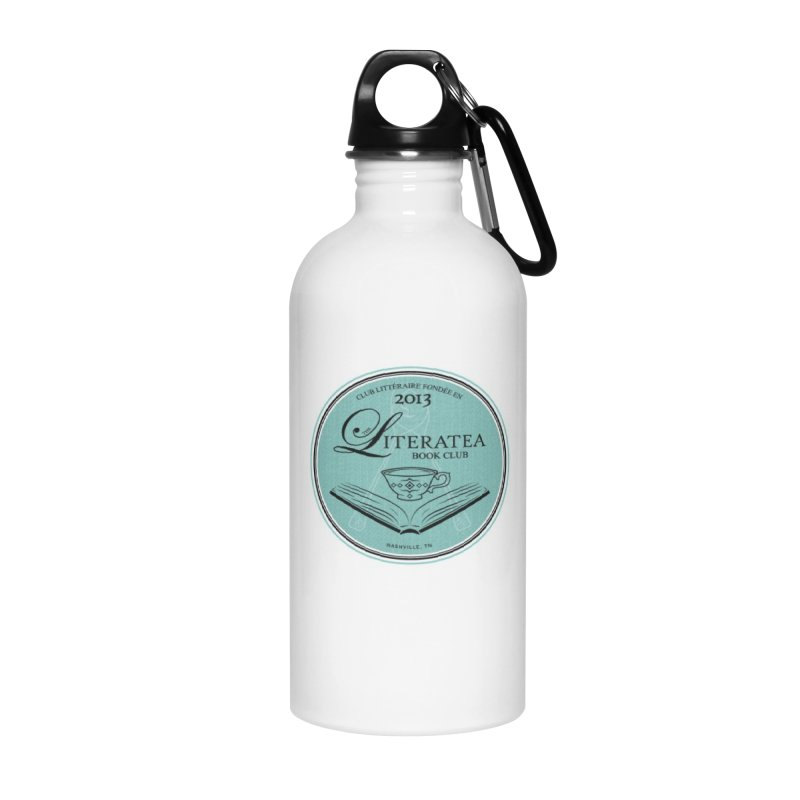 The Literatea Book Club Accessories Water Bottle by cityscapecreative's Artist Shop