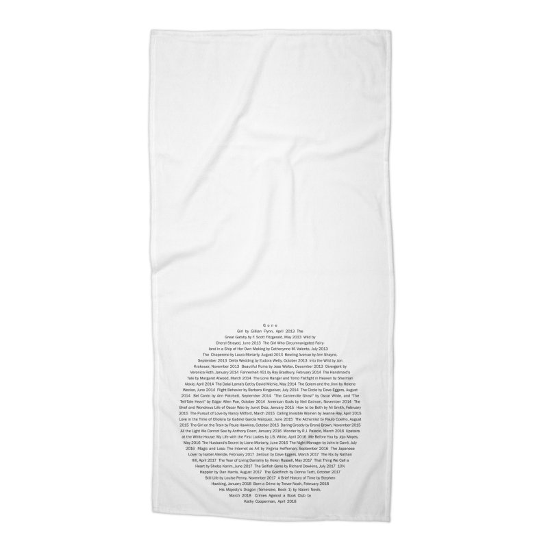 Five year Book Club Anniversary Accessories Beach Towel by cityscapecreative's Artist Shop