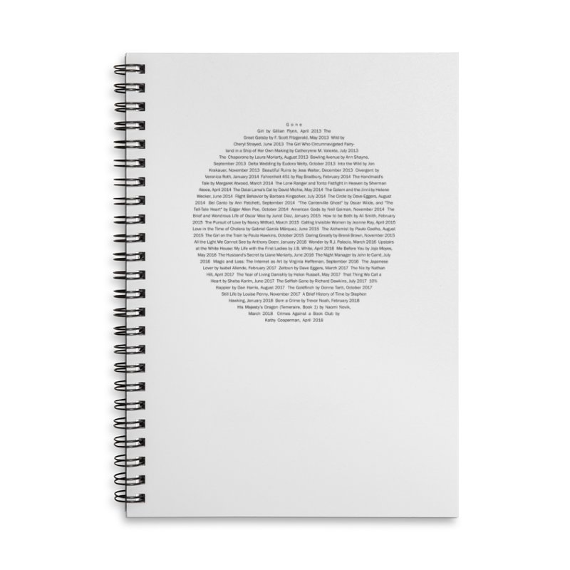 Five year Book Club Anniversary Accessories Lined Spiral Notebook by cityscapecreative's Artist Shop