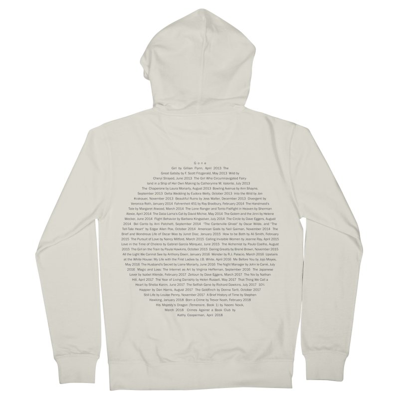 Five year Book Club Anniversary Women's French Terry Zip-Up Hoody by cityscapecreative's Artist Shop