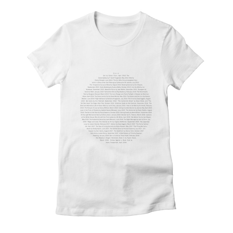 Five year Book Club Anniversary Women's Fitted T-Shirt by cityscapecreative's Artist Shop