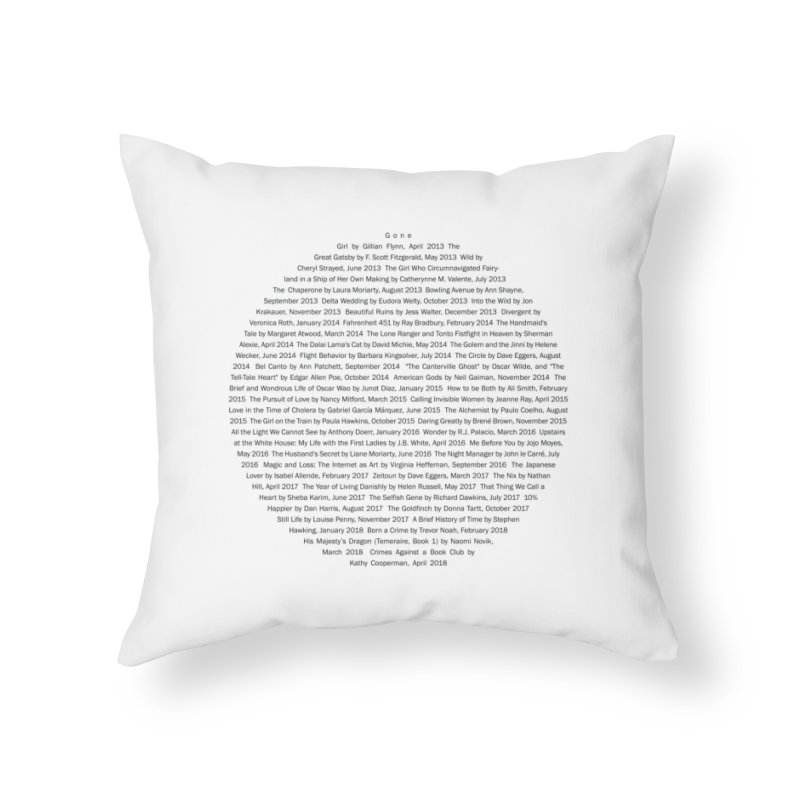 Five year Book Club Anniversary Home Throw Pillow by cityscapecreative's Artist Shop