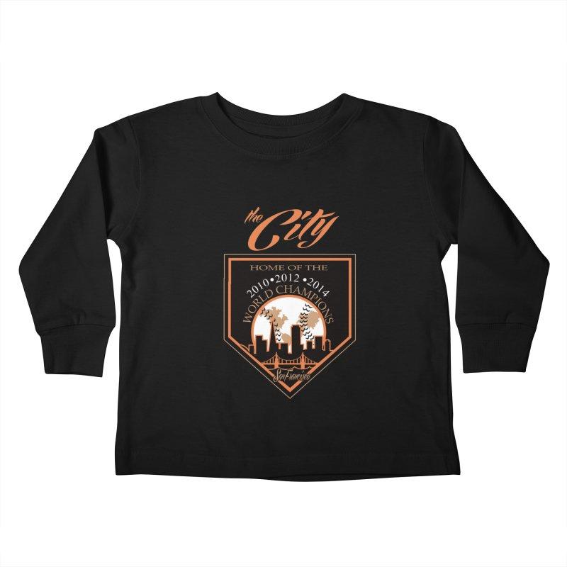 The City San Francisco Baseball World Champions Kids Toddler Longsleeve T-Shirt by cityshirts's Artist Shop