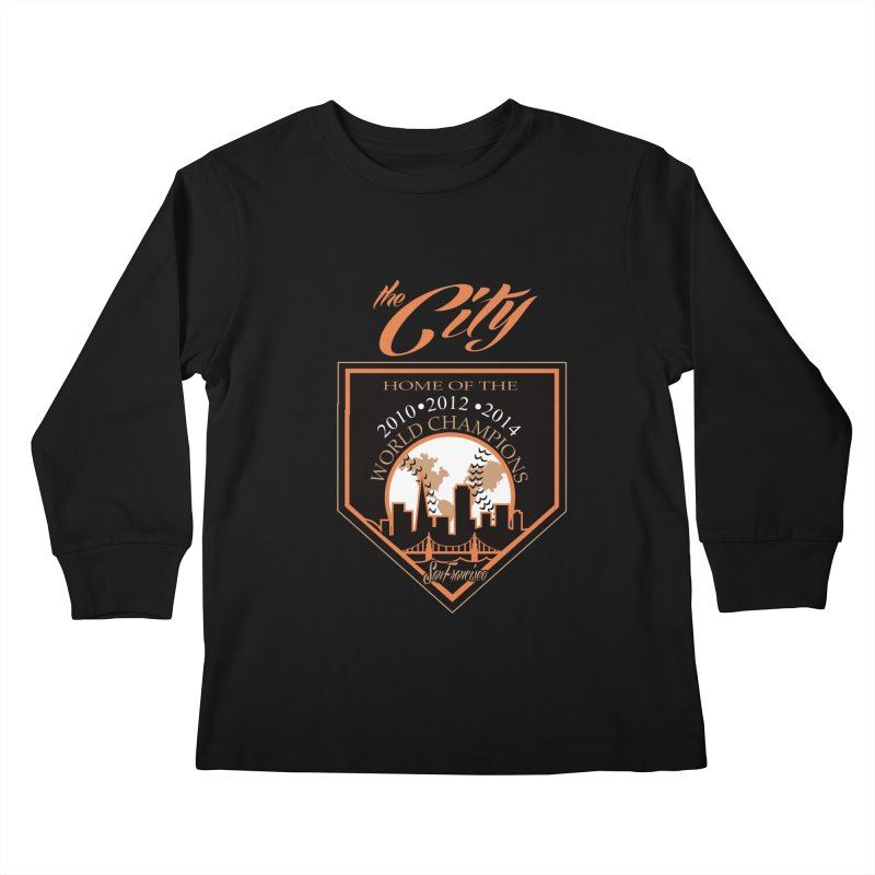 The City San Francisco Baseball World Champions Kids Longsleeve T-Shirt by cityshirts's Artist Shop