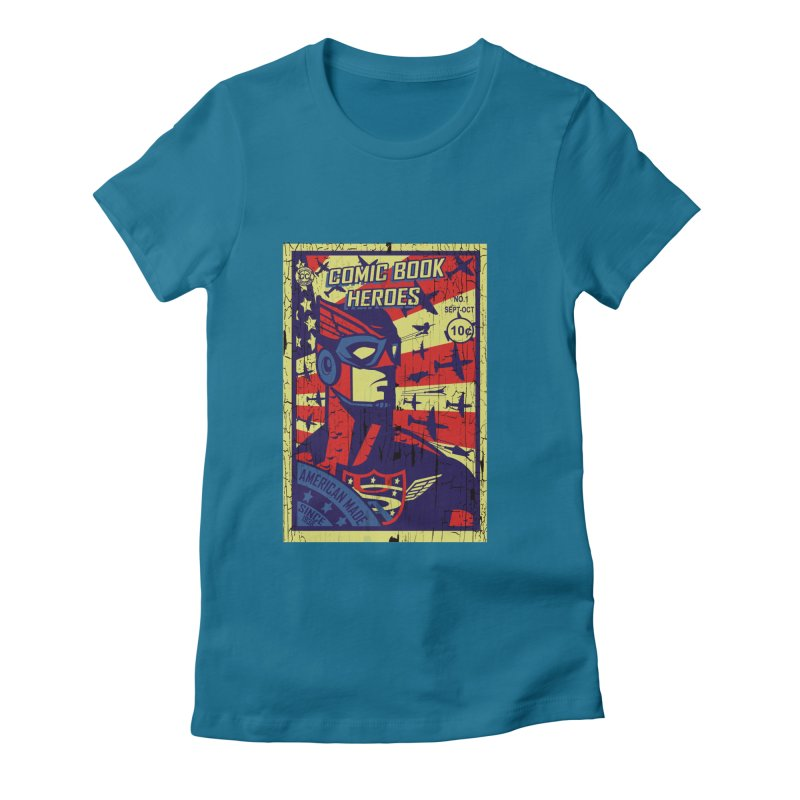American Made since 1938 Women's Fitted T-Shirt by cityshirts's Artist Shop