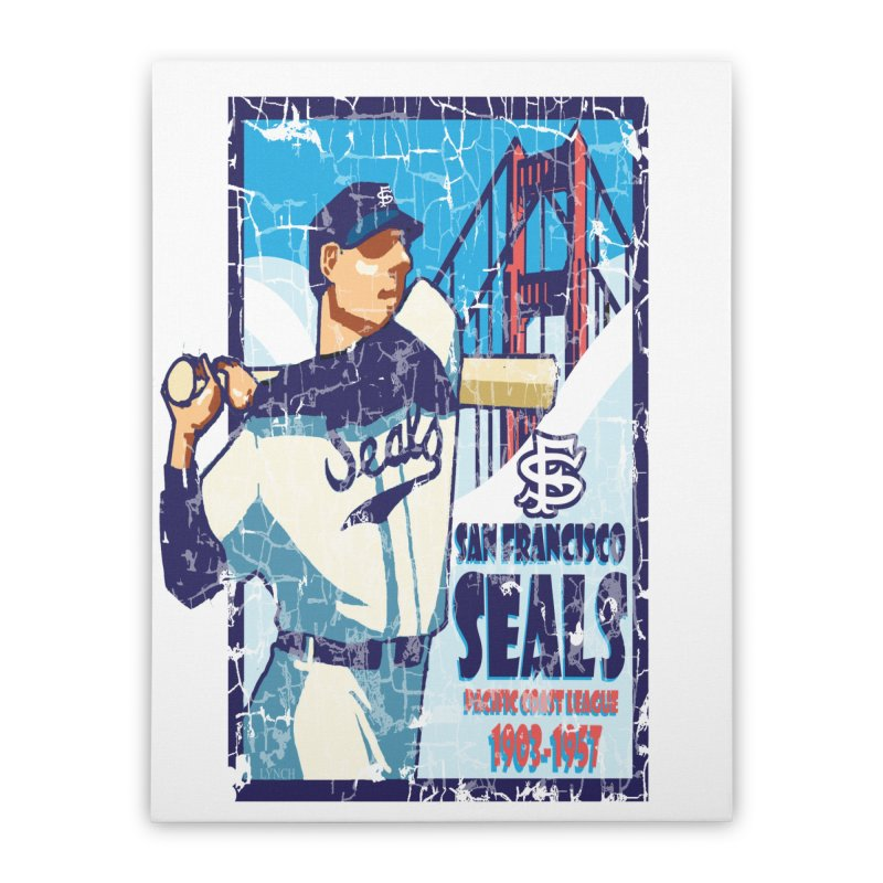 Seals Home Stretched Canvas by cityshirts's Artist Shop