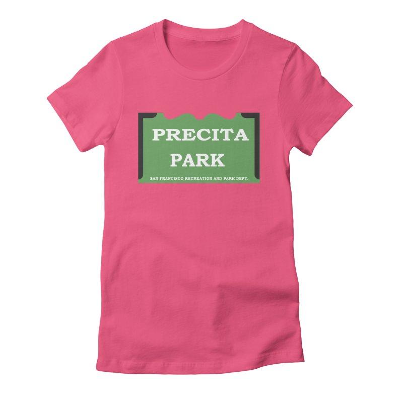 Precita Park Women's Fitted T-Shirt by cityshirts's Artist Shop