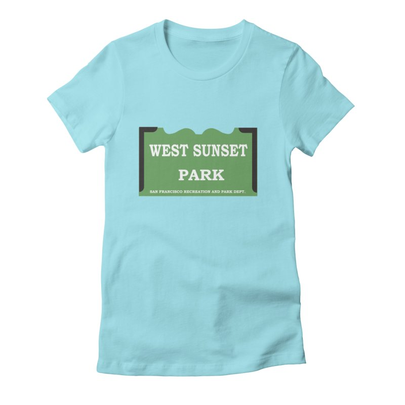 West Sunset Park Women's Fitted T-Shirt by cityshirts's Artist Shop