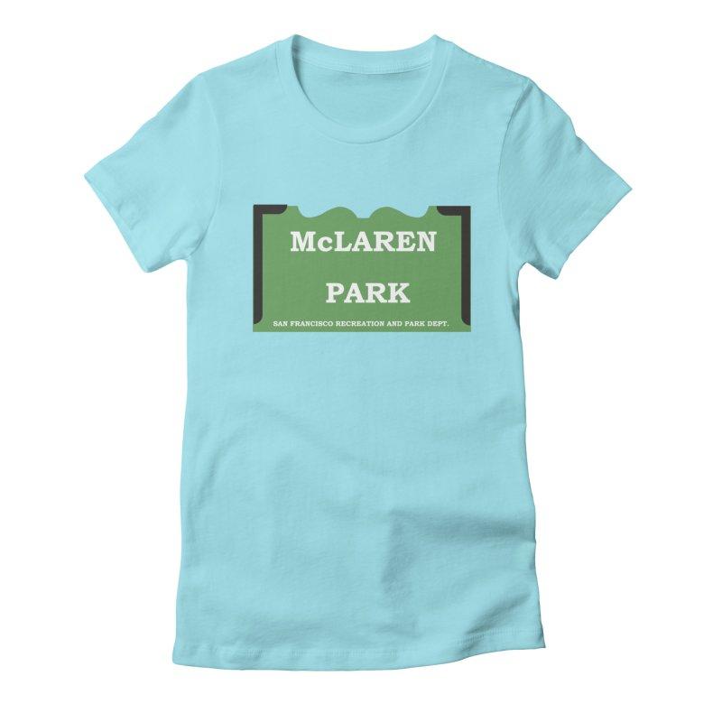 McLaren Park Women's Fitted T-Shirt by cityshirts's Artist Shop
