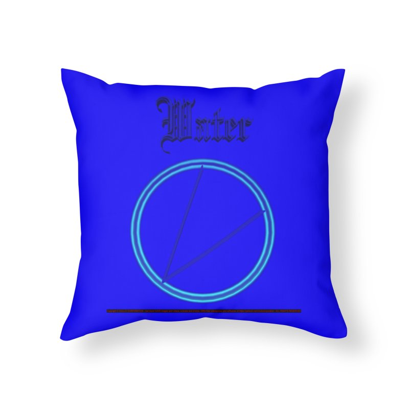 Water (title) Home Throw Pillow by CIULLO CORPORATION's Artist Shop
