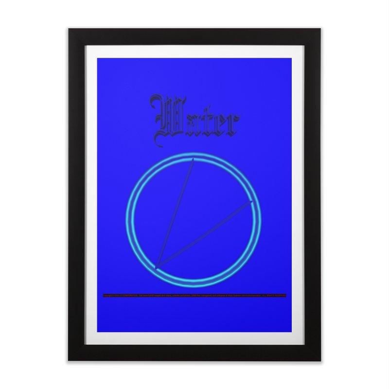 Water (title) Home Framed Fine Art Print by CIULLO CORPORATION's Artist Shop