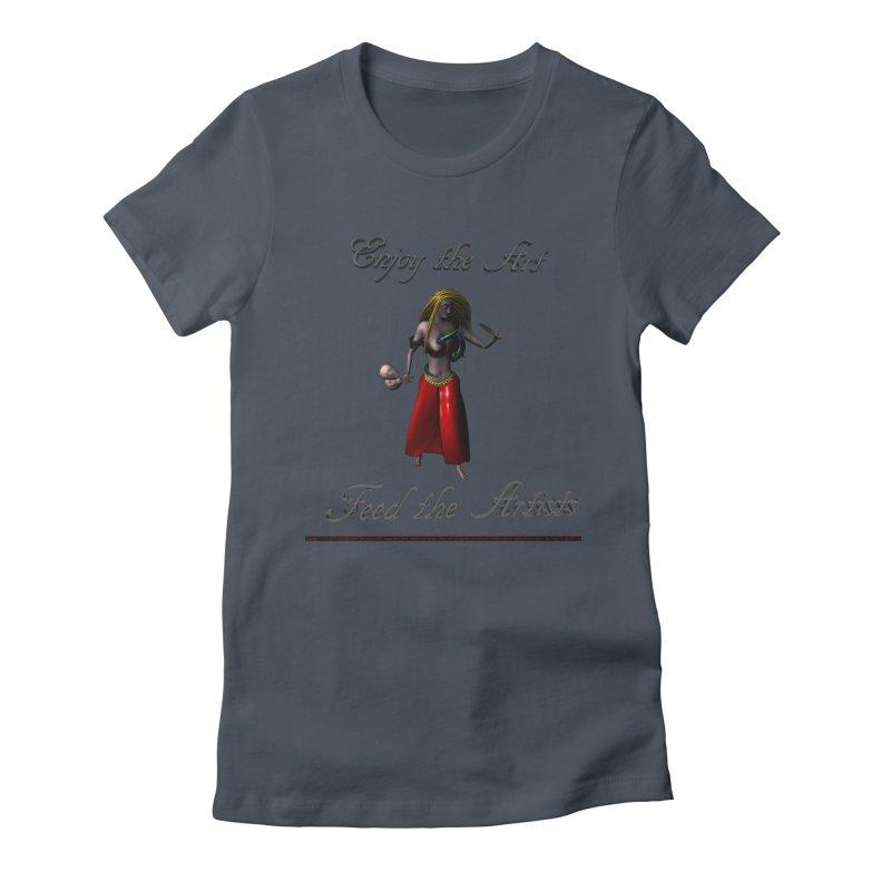 Feed the Artists (Barbrella) Women's T-Shirt by CIULLO CORPORATION's Artist Shop