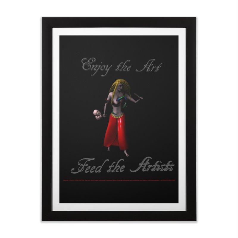 Feed the Artists (Barbrella) Home Framed Fine Art Print by CIULLO CORPORATION's Artist Shop