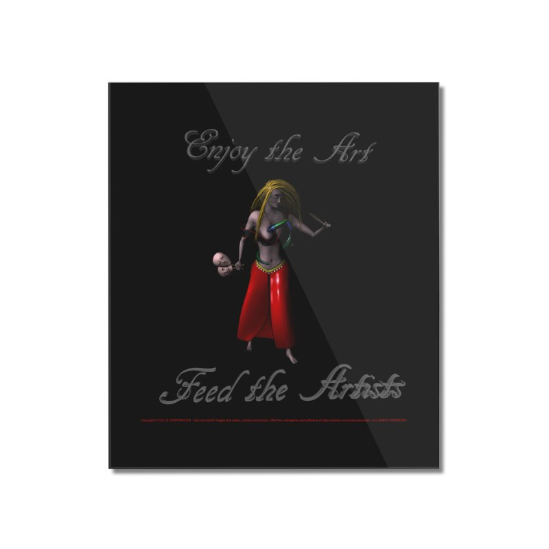 Feed the Artists (Barbrella) Home Mounted Acrylic Print by CIULLO CORPORATION's Artist Shop