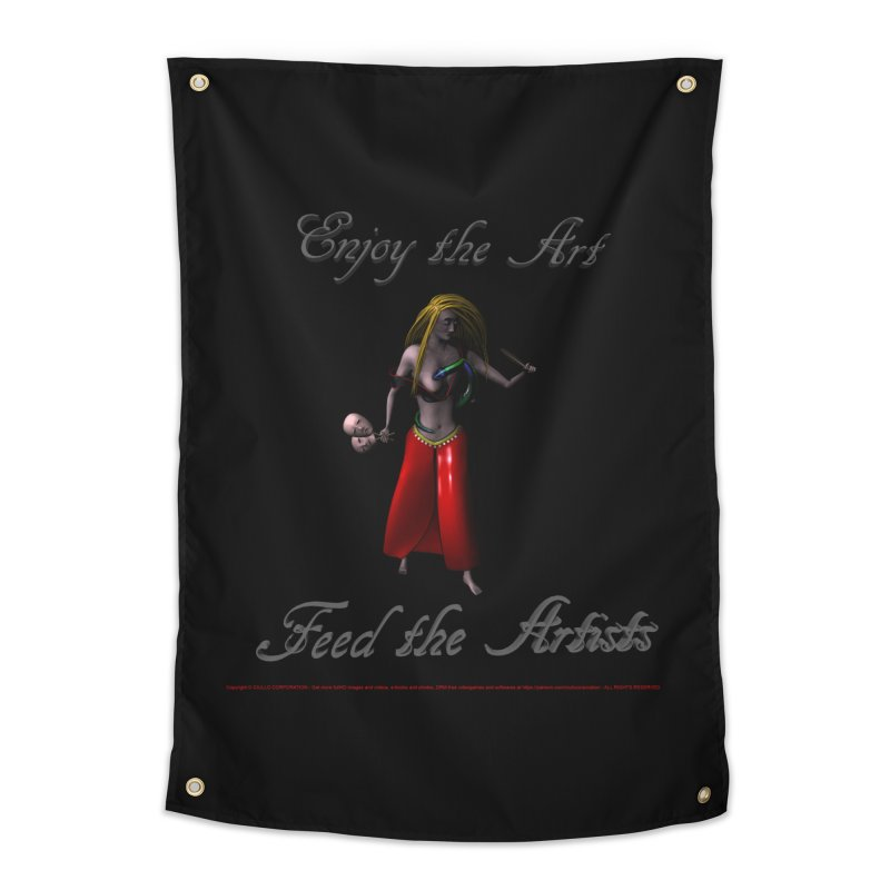 Feed the Artists (Barbrella) Home Tapestry by CIULLO CORPORATION's Artist Shop