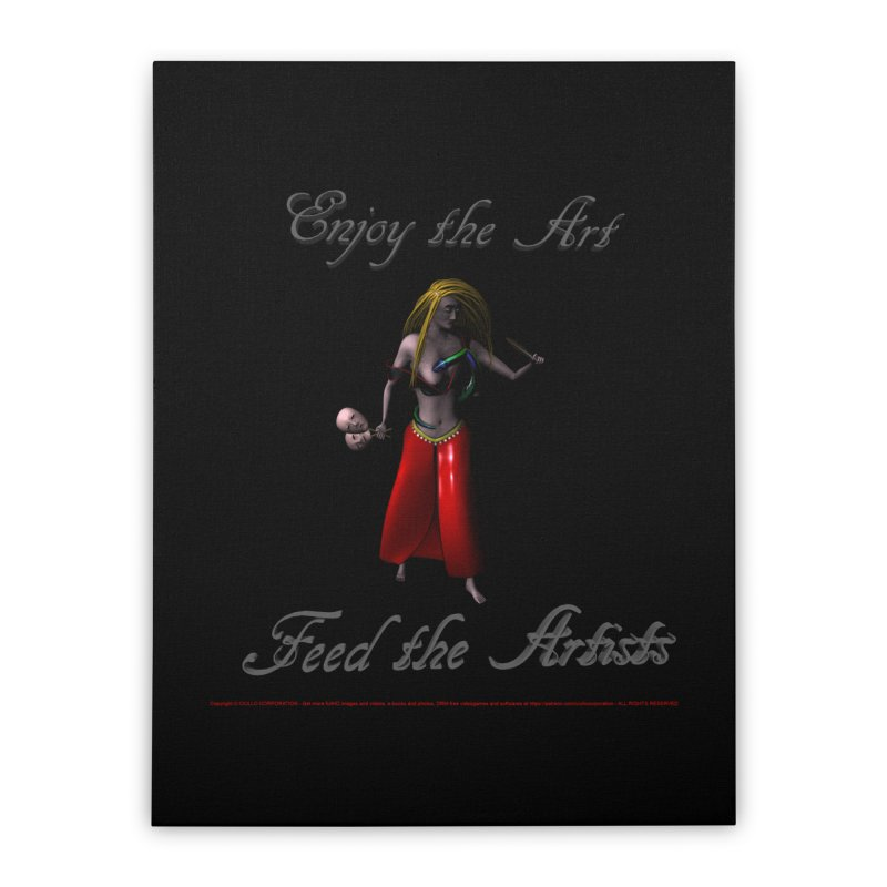 Feed the Artists (Barbrella) Home Stretched Canvas by CIULLO CORPORATION's Artist Shop