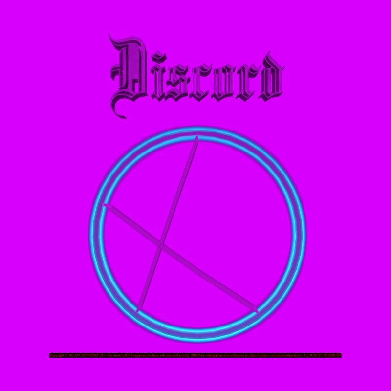 Discord (title) Men's Zip-Up Hoody by CIULLO CORPORATION's Artist Shop