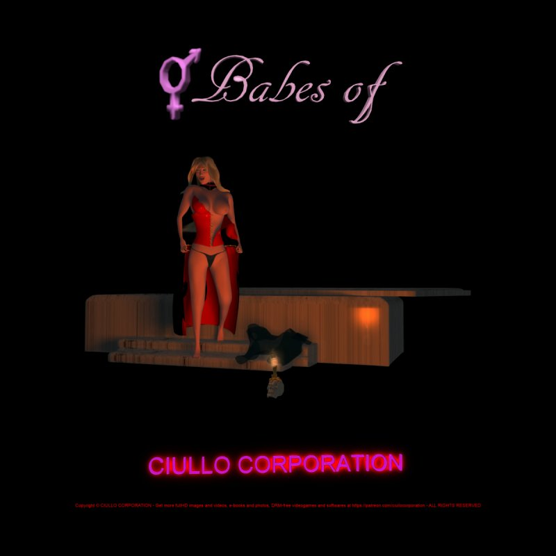 277. Babes of CIULLO CORPORATION (Saffertia) Women's V-Neck by CIULLO CORPORATION's Artist Shop