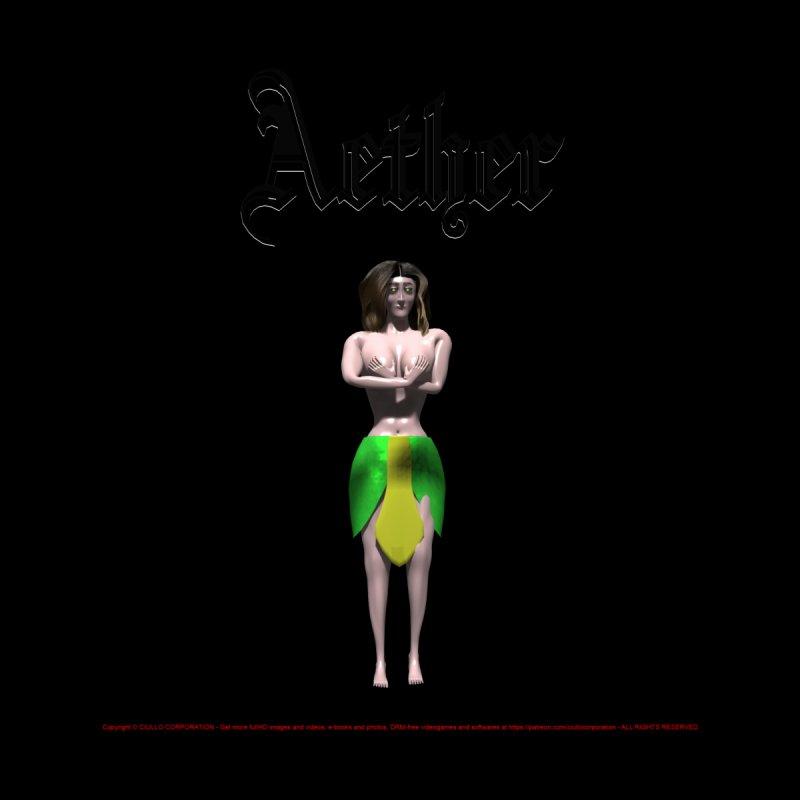279. Aether (female Eldir Elf) Women's V-Neck by CIULLO CORPORATION's Artist Shop