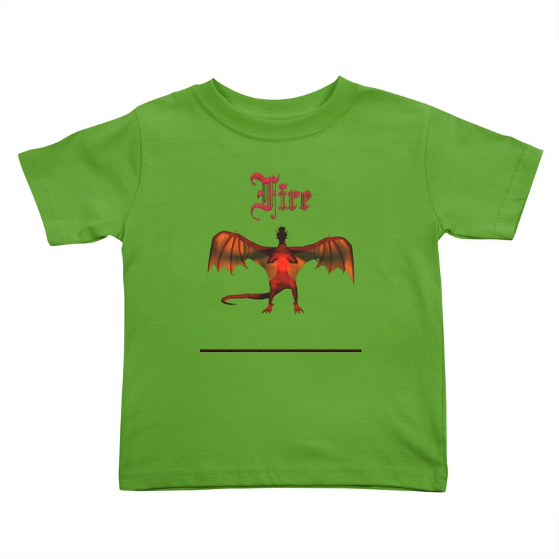 294. Fire (male Nayar Dragon) Kids of CIULLO CORPORATION Toddler T-Shirt by CIULLO CORPORATION's Artist Shop