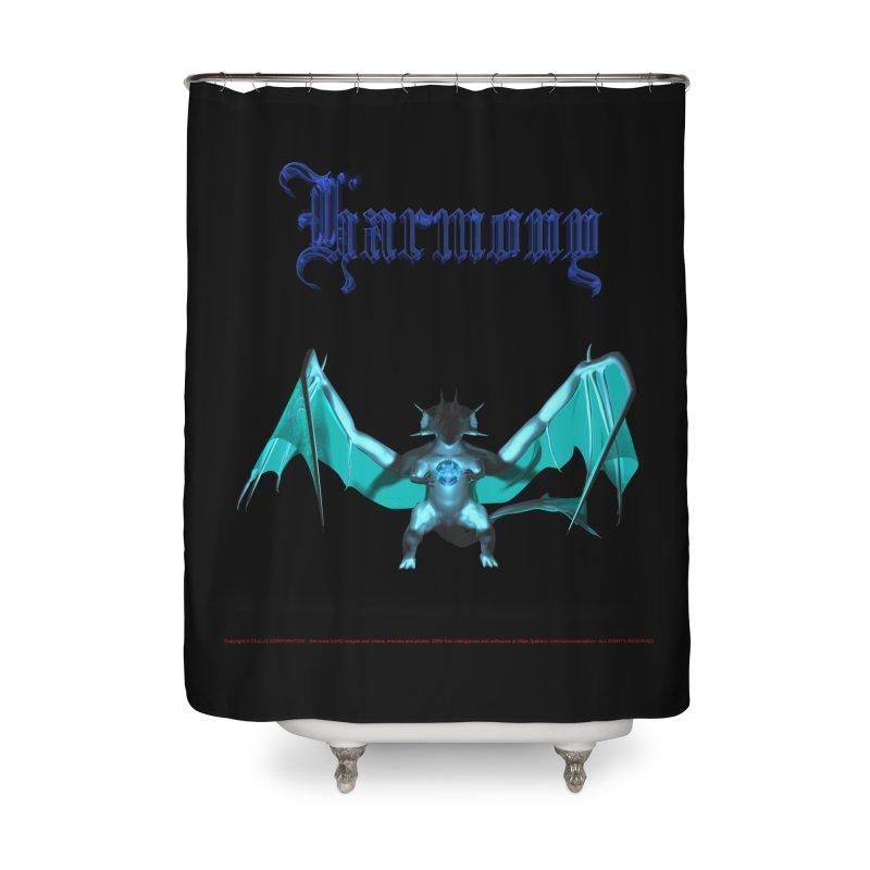 305. Harmony (male Armoryss Dragon) Coves of CIULLO CORPORATION Shower Curtain by CIULLO CORPORATION's Artist Shop