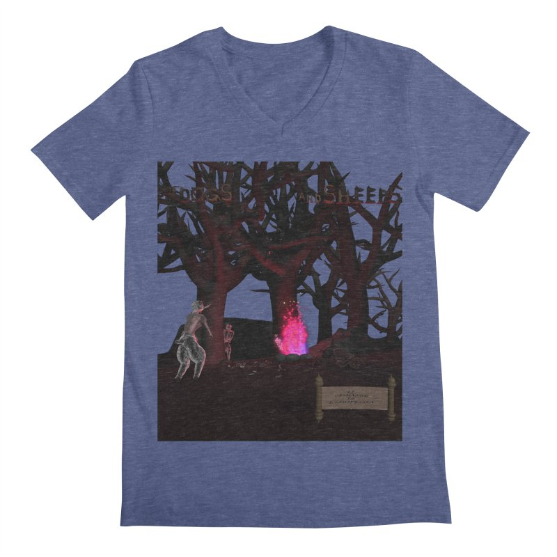 Of Dogs and Sheeps (Titled) Men's V-Neck by CIULLO CORPORATION's Artist Shop