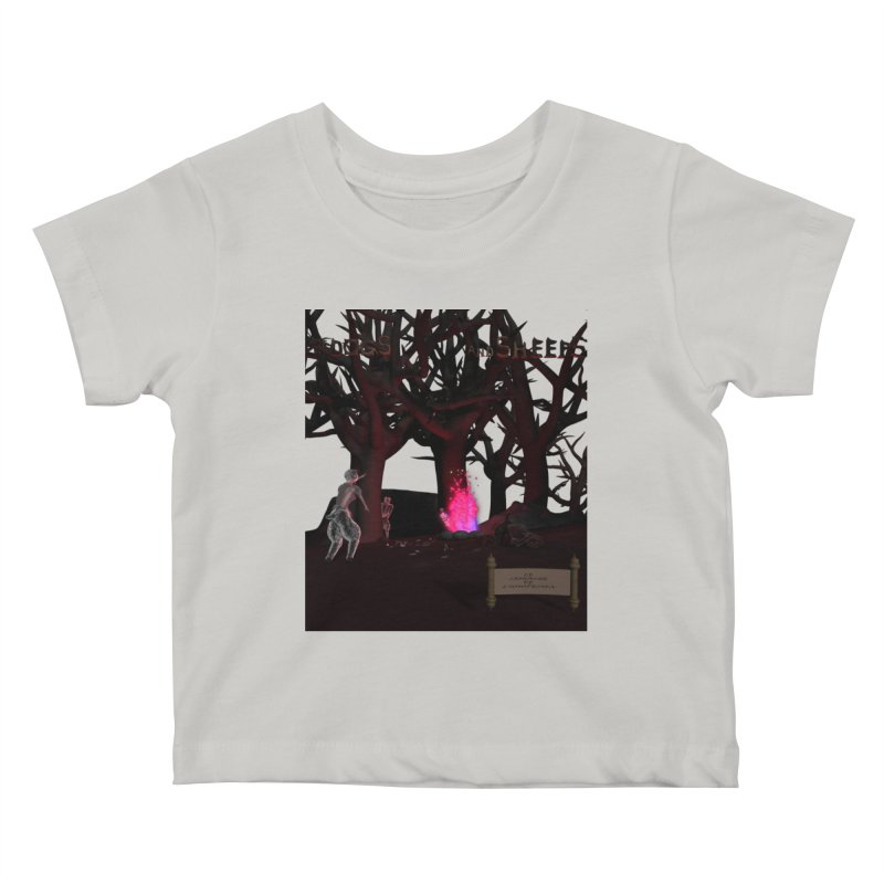 Of Dogs and Sheeps (Titled) Kids Baby T-Shirt by CIULLO CORPORATION's Artist Shop