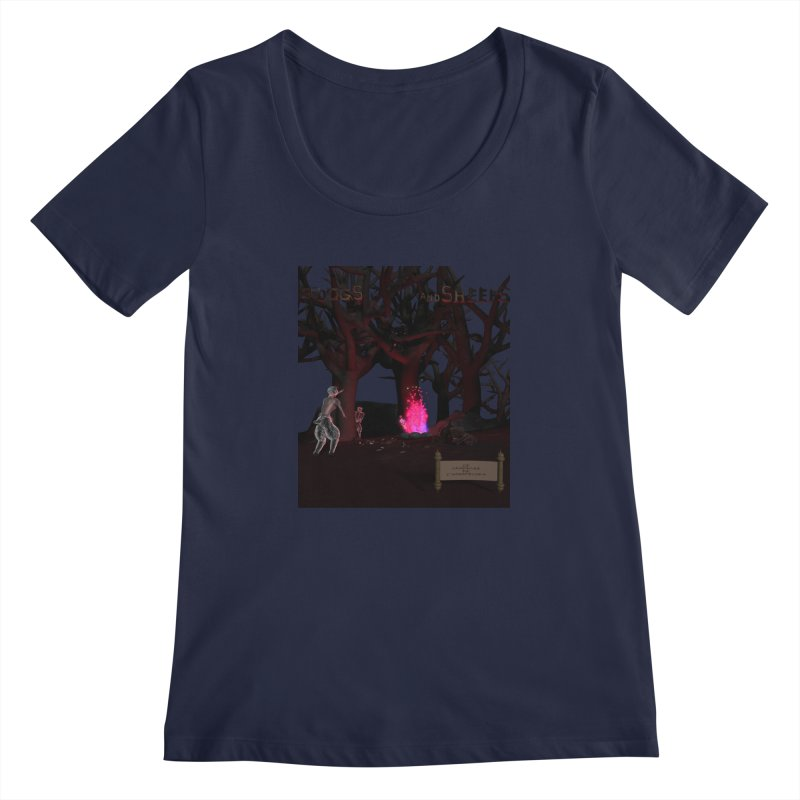Of Dogs and Sheeps (Titled) Women's Scoopneck by CIULLO CORPORATION's Artist Shop