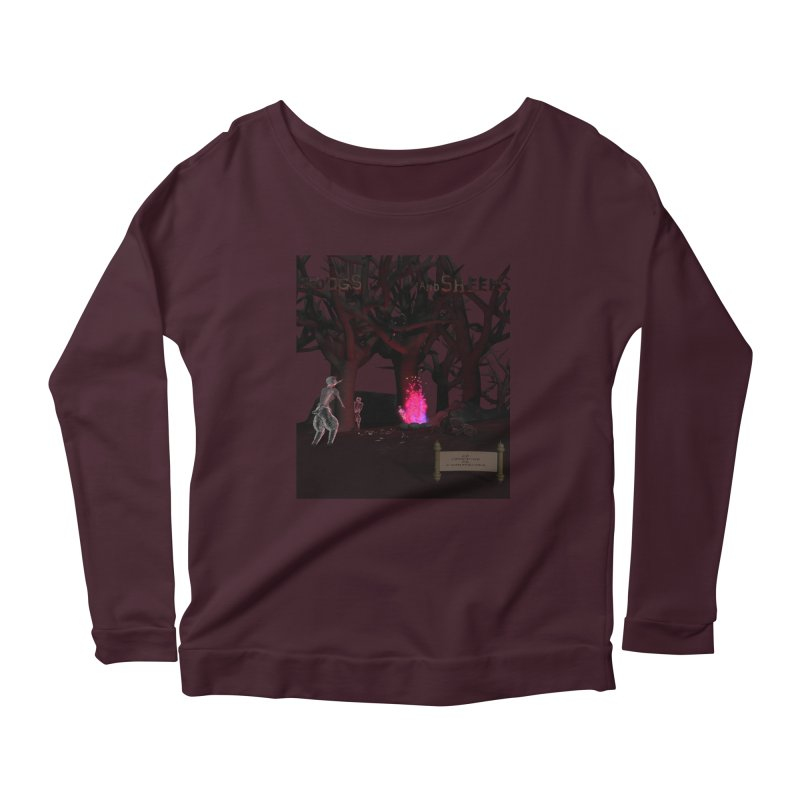 Of Dogs and Sheeps (Titled) Women's Longsleeve Scoopneck  by CIULLO CORPORATION's Artist Shop