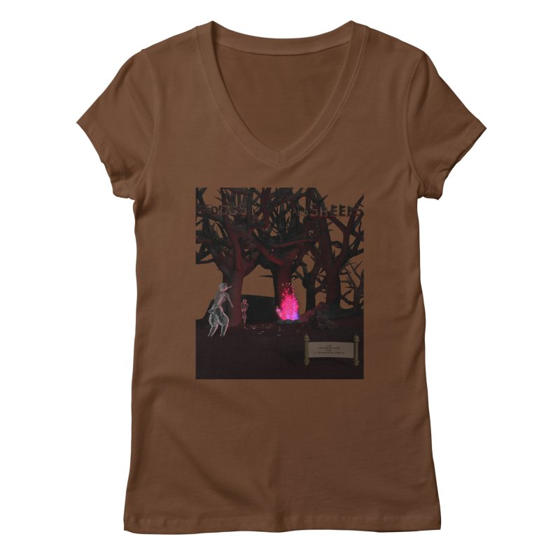 Of Dogs and Sheeps (Titled) Women's V-Neck by CIULLO CORPORATION's Artist Shop